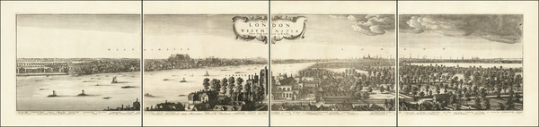 90-London Map By Wenceslaus Hollar