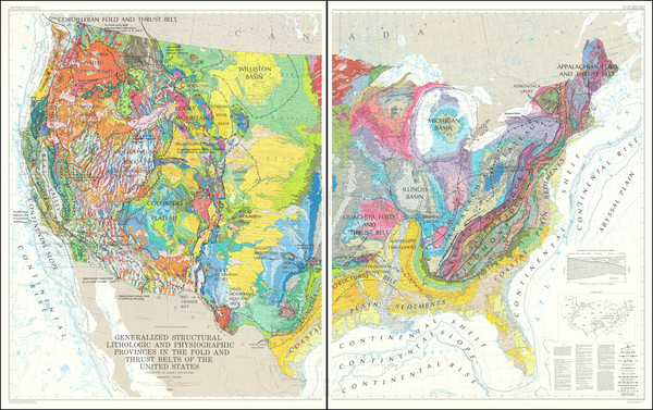 59-United States and Geological Map By U.S. Geological Survey