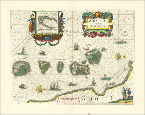 54-Indonesia Map By Willem Janszoon Blaeu
