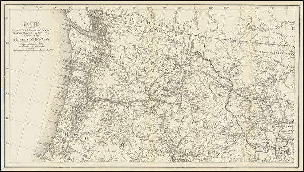 4-Idaho, Montana, Oregon, Washington and British Columbia Map By United States GPO