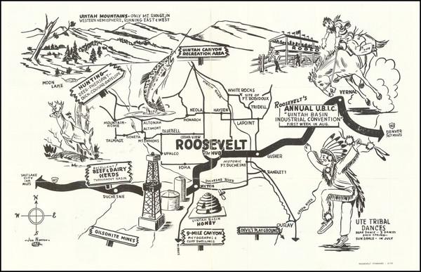 62-Utah, Utah and Pictorial Maps Map By Joe Norton