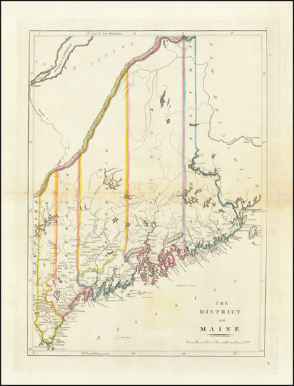 23-Maine Map By Mathew Carey