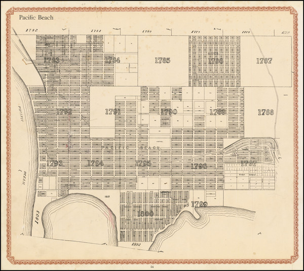 66-San Diego Map By William E. Alexander