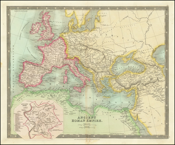 24-Europe, Italy and Mediterranean Map By Henry Teesdale