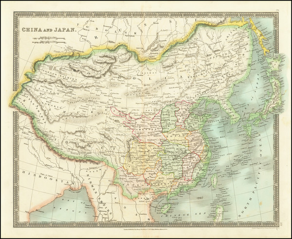 32-China Map By Henry Teesdale