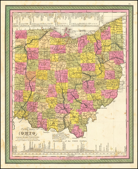 67-Ohio Map By Samuel Augustus Mitchell