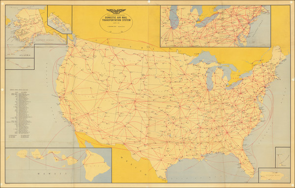 63-United States Map By United States Post Office