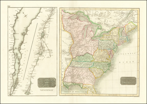 12-United States and Eastern Canada Map By John Thomson