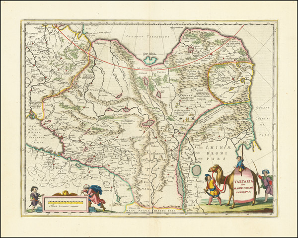 13-China, Central Asia & Caucasus and Russia in Asia Map By Willem Janszoon Blaeu