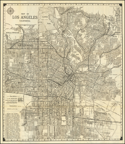 79-Los Angeles Map By E.F. Hill