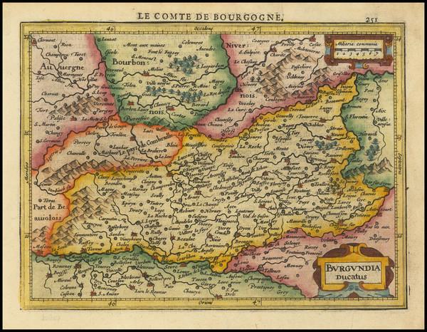 47-Centre et Pays de la Loire Map By Henricus Hondius -  Gerard Mercator