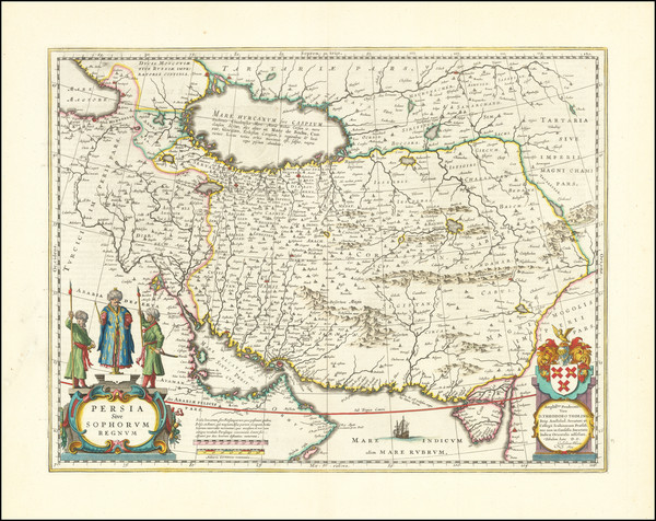 70-Middle East and Persia Map By Willem Janszoon Blaeu