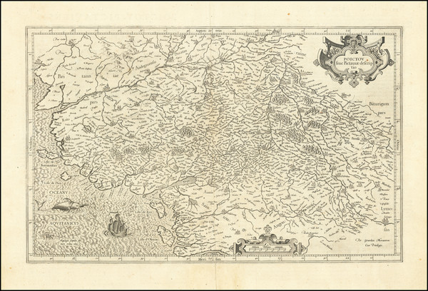 34-France Map By  Gerard Mercator