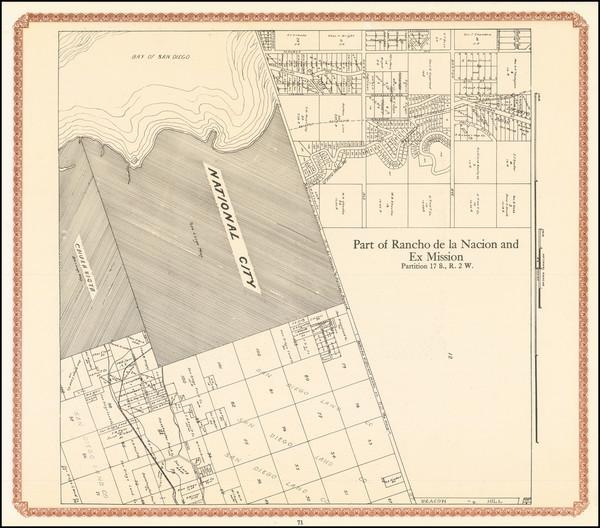 91-San Diego Map By William E. Alexander