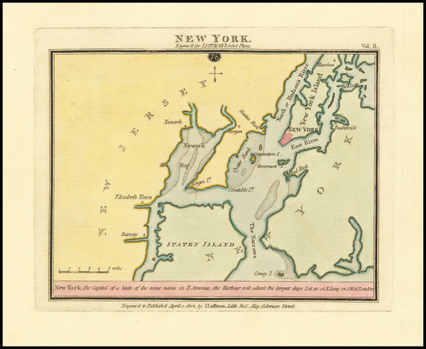 46-New York City, New York State and New Jersey Map By John Luffman