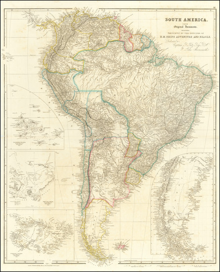 39-South America and Peru & Ecuador Map By John Arrowsmith