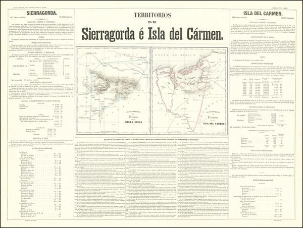 71-Mexico Map By Antonio Garcia y Cubas