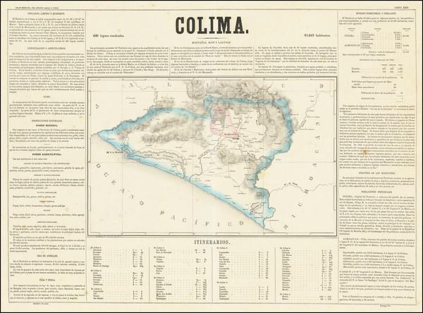 25-Mexico Map By Antonio Garcia y Cubas