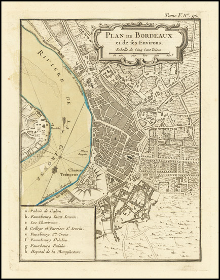 37-Other French Cities Map By Jacques Nicolas Bellin