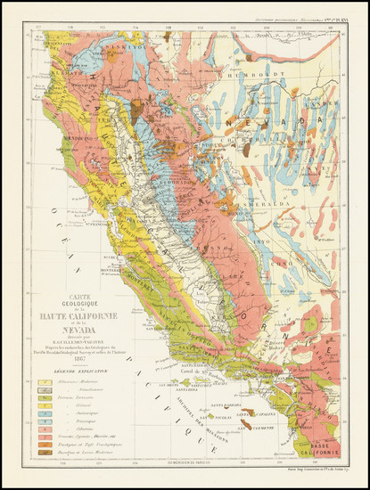 1-Nevada and California Map By Edmond Guillemin-Tarayre