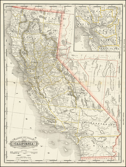 88-California Map By George F. Cram