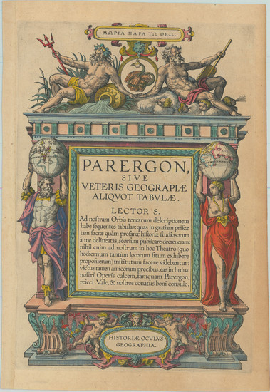 42-Title Pages Map By Abraham Ortelius