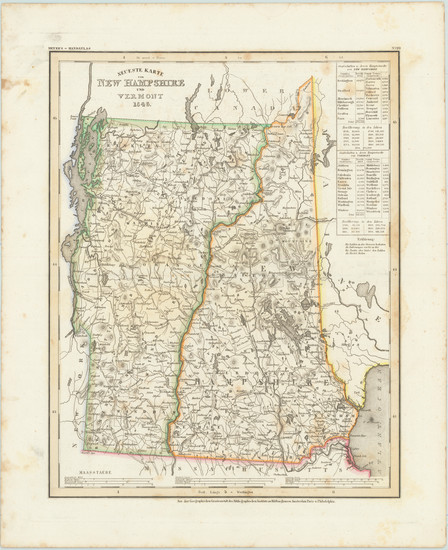 56-New Hampshire and Vermont Map By Joseph Meyer