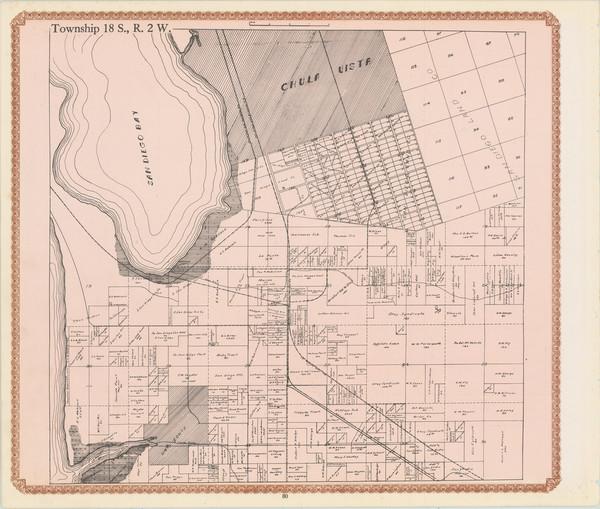 32-San Diego Map By William E. Alexander