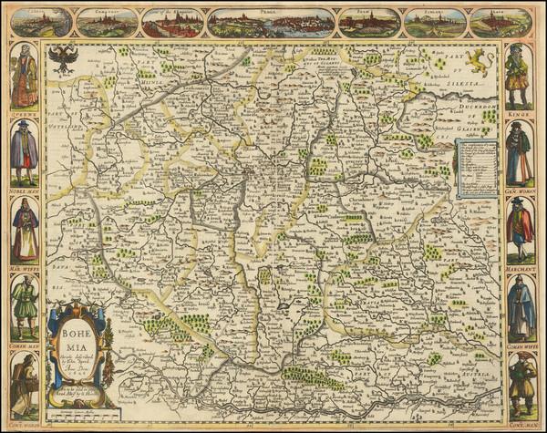 64-Czech Republic & Slovakia Map By John Speed