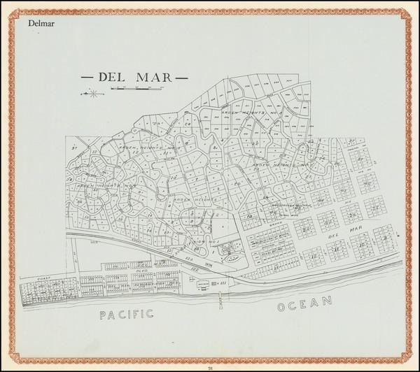 85-San Diego Map By William E. Alexander