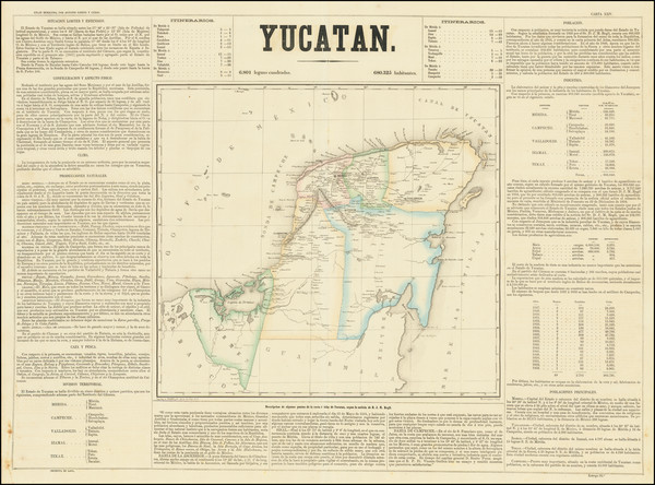 54-Mexico Map By Antonio Garcia y Cubas