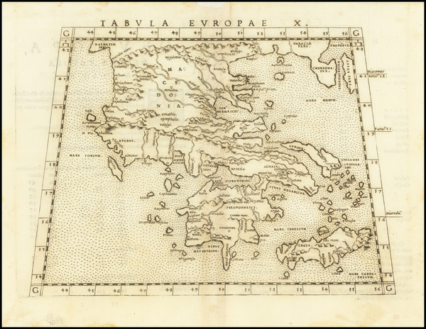 7-Greece Map By Girolamo Ruscelli