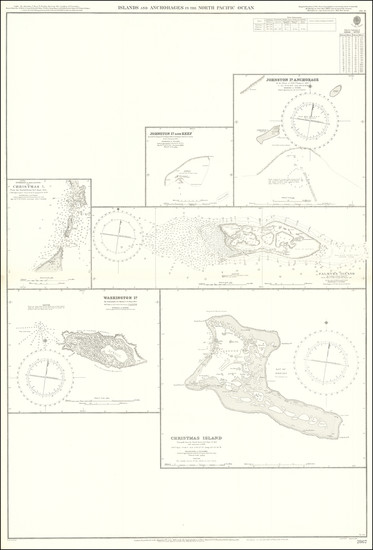 77-Pacific Ocean and Pacific Map By British Admiralty