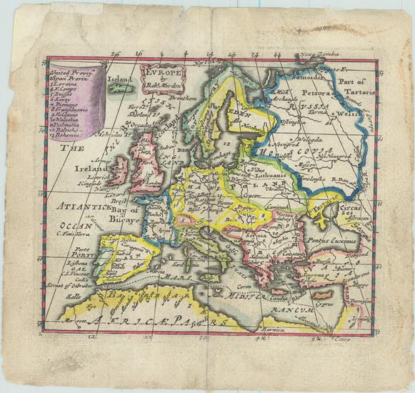 12-Europe Map By Robert Morden