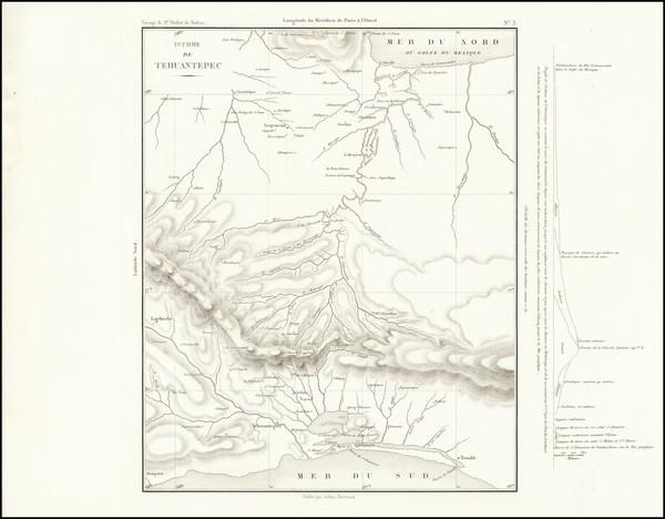 1-Mexico Map By Eugene Duflot De Mofras