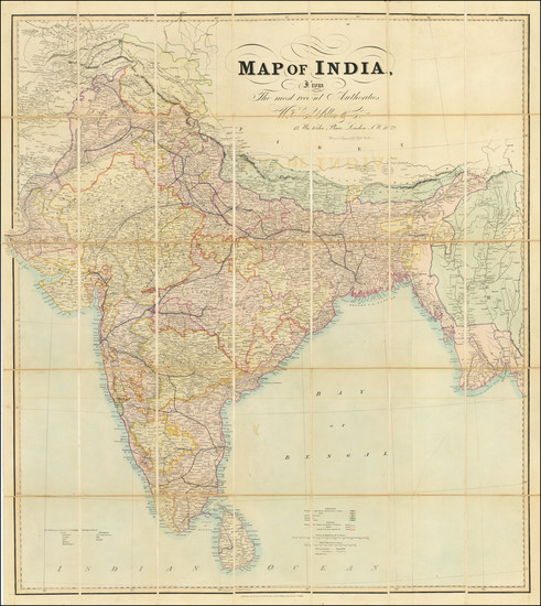 92-India Map By William H. Allen & Co.