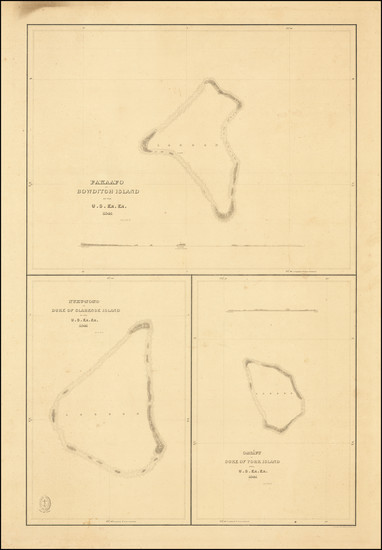 44-Other Pacific Islands Map By Charles Wilkes