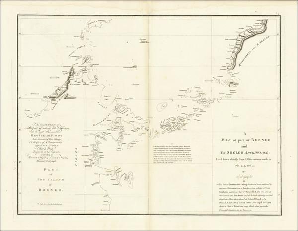 37-Philippines and Indonesia Map By Jean-Baptiste-Nicolas-Denis d'Après de Mannevillette /