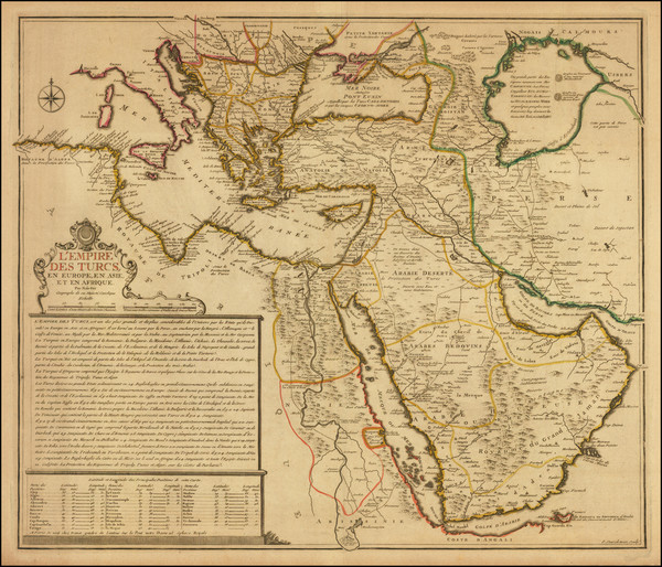 60-Turkey, Central Asia & Caucasus, Arabian Peninsula and Turkey & Asia Minor Map By Nicol
