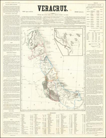 39-Mexico Map By Antonio Garcia y Cubas