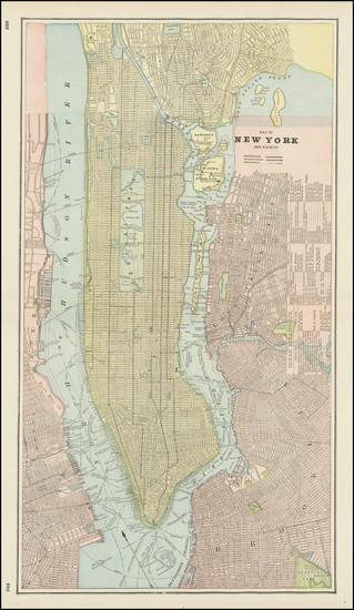26-New York City Map By George F. Cram
