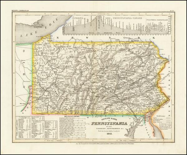 14-Pennsylvania Map By Joseph Meyer