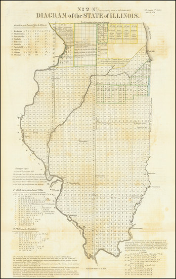100-Illinois Map By U.S. General Land Office