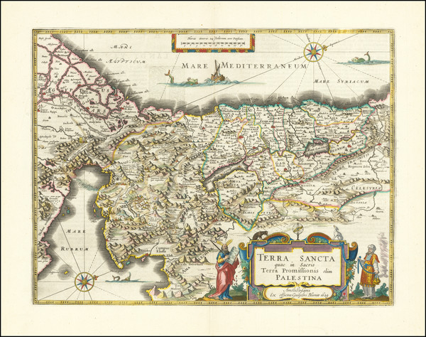 43-Holy Land Map By Willem Janszoon Blaeu