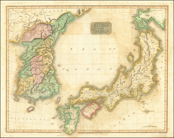 68-Japan and Korea Map By John Thomson