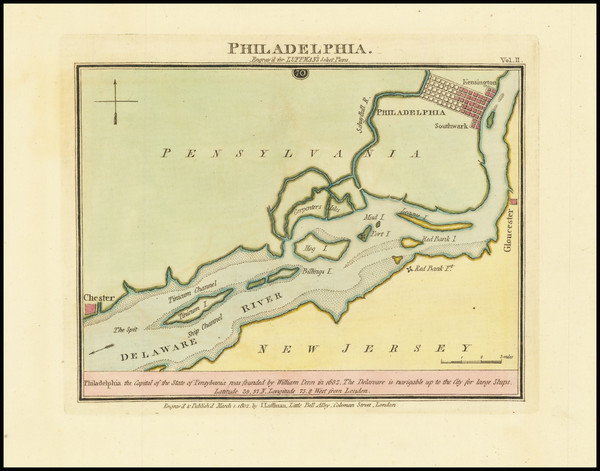 100-Philadelphia Map By John Luffman