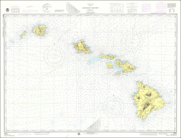 32-Hawaii and Hawaii Map By National Oceanic and Atmospheric Administration