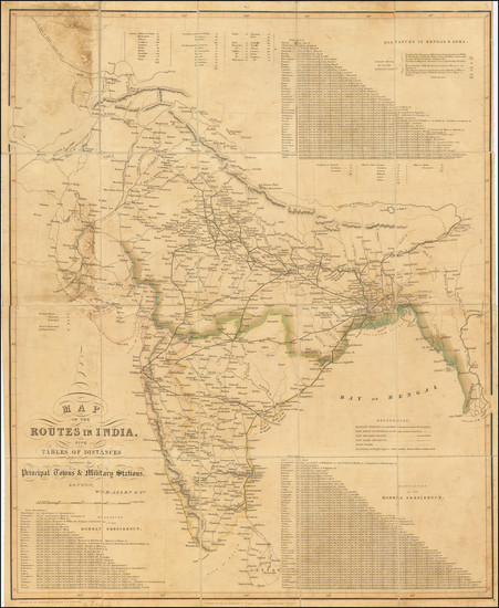 52-India Map By William H. Allen & Co.