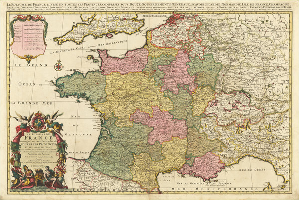 4-France Map By Pierre Mortier