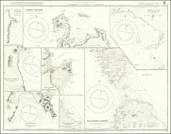 43-Mexico and Baja California Map By British Admiralty